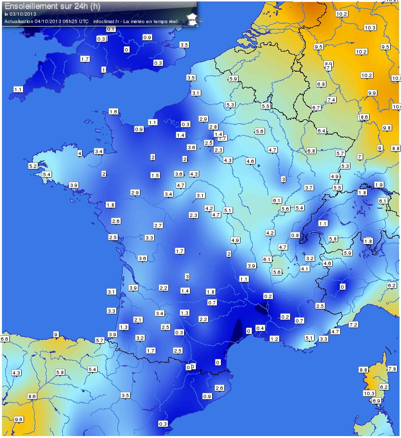 Actualit s m t orologiques infoclimat - Meteo cholet 49 ...