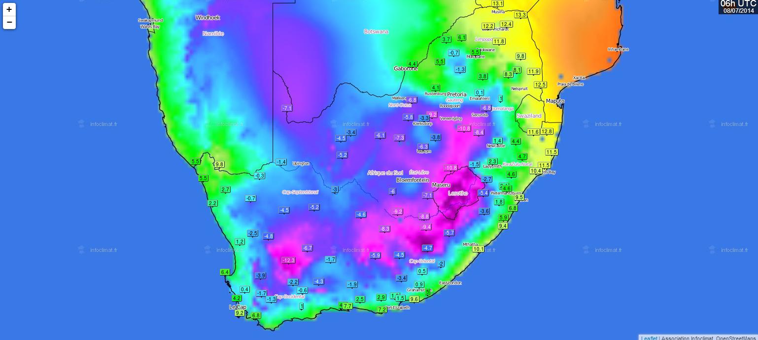 Carte Meteo Afrique Du Sud.Actualites Meteorologiques Infoclimat