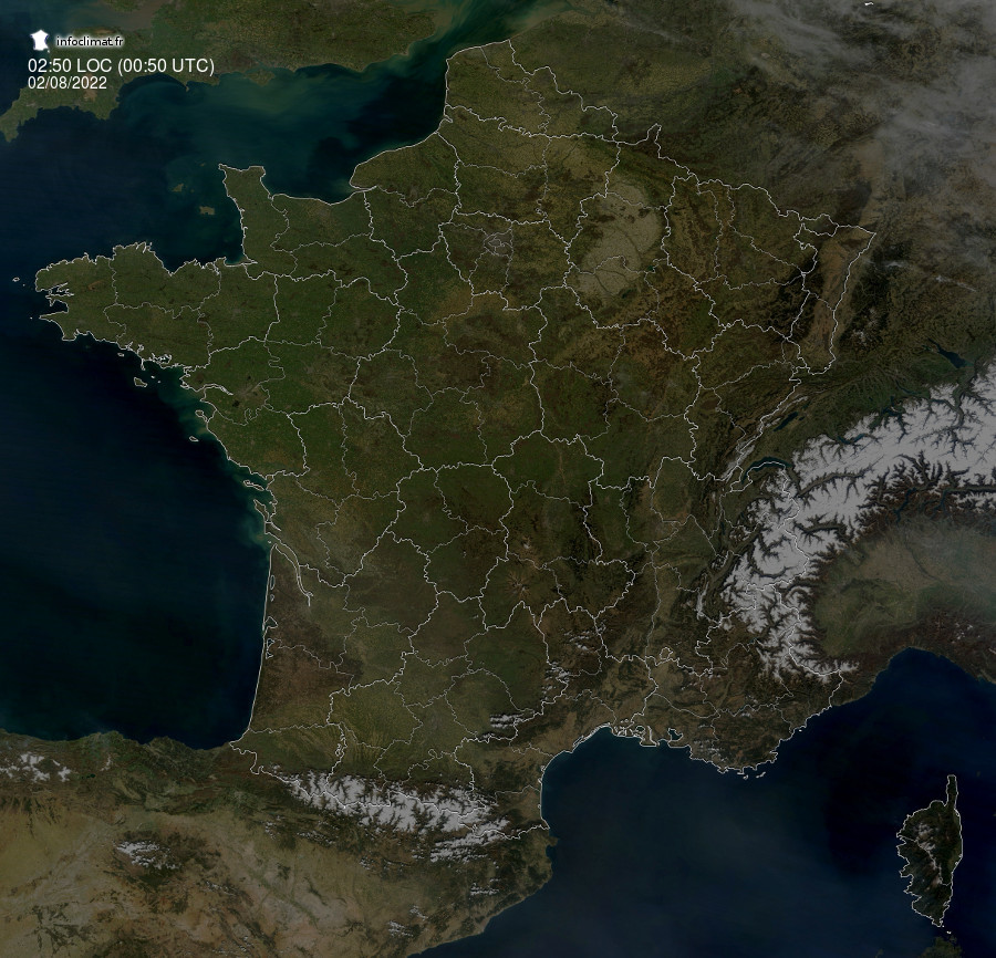 images satellites en temps reel - France
