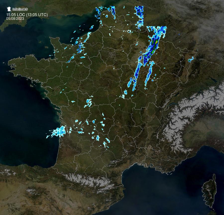 images satellites en temps reel - France