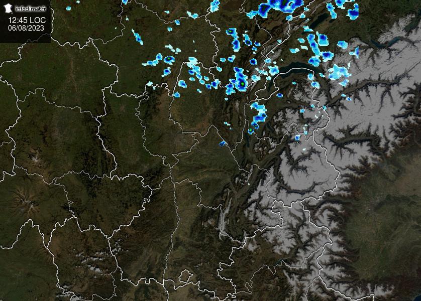 images satellites en temps reel - Centre-Est