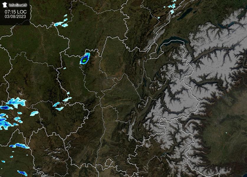 Suivi des pluies en région Rhône-Alpes