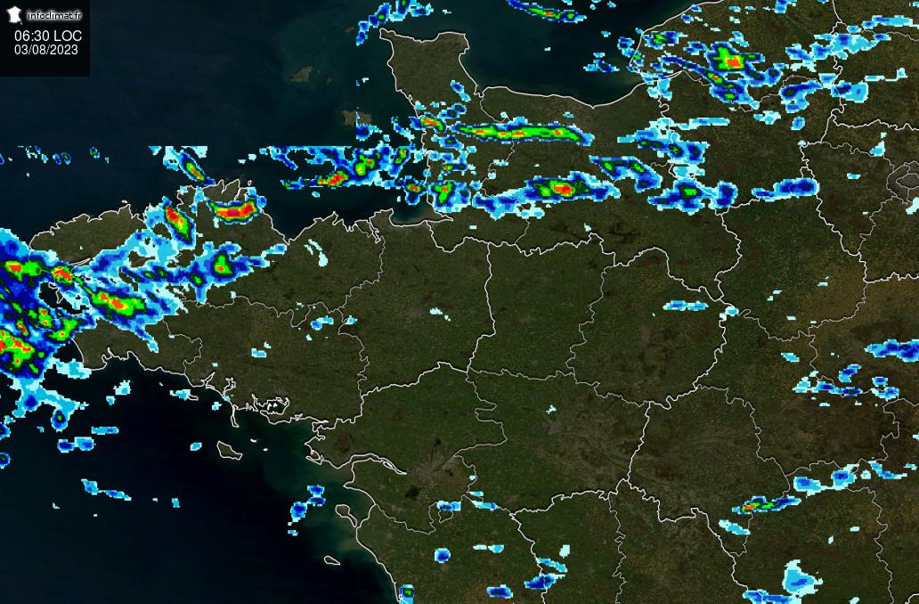 images satellites en temps reel - Nord-Ouest