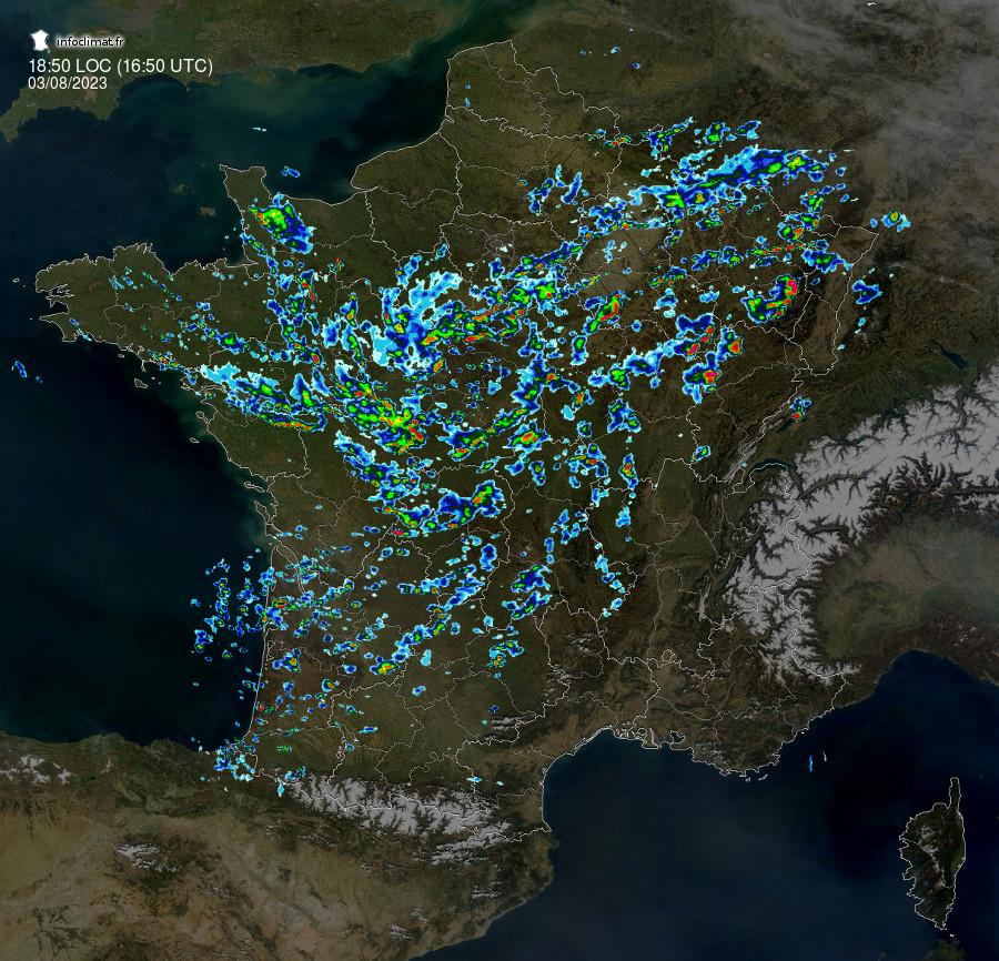 Radar précipitations, Infoclimat, la mét&eacue;o en temps réel