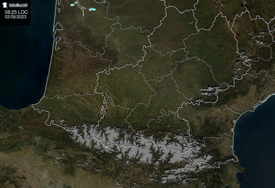 Image radar sud-ouest