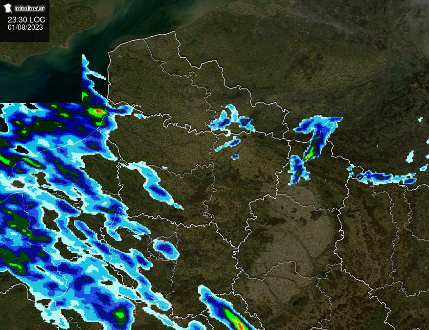 images satellites en temps reel - Nord - IDF
