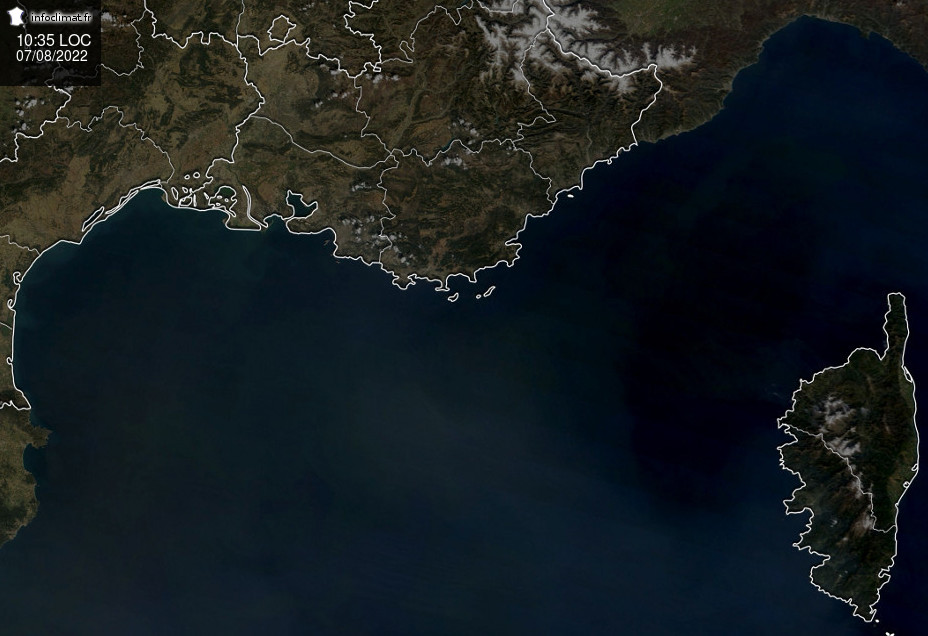 images satellites en temps reel - Sud-Est - Corse