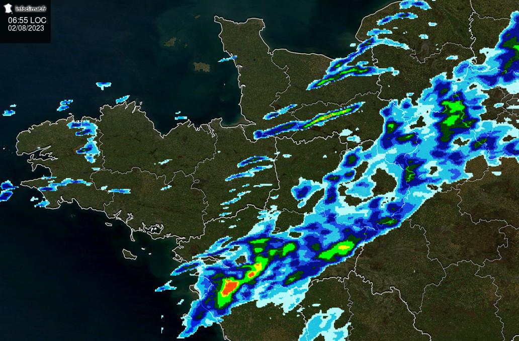 Radar précipitations, foudre, satellite, Infoclimat, la mét&eacue;o en temps réel