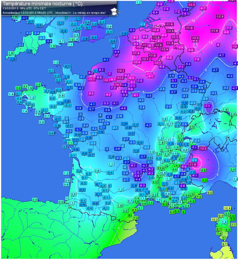 Temp te de neige coup de froid froid froid inhabituel - Meteo france compiegne ...