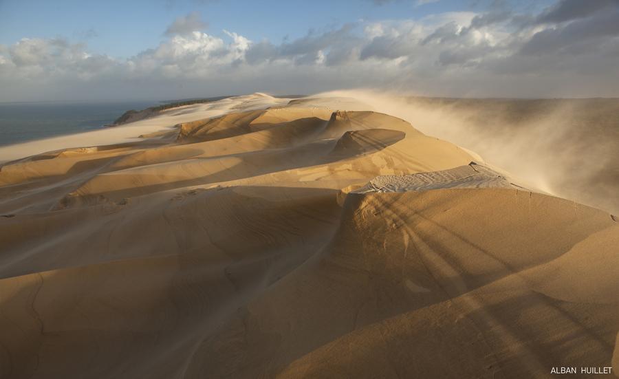 Dune du Pilat Tempete Fabien | Photolive, toutes les photos météo ...