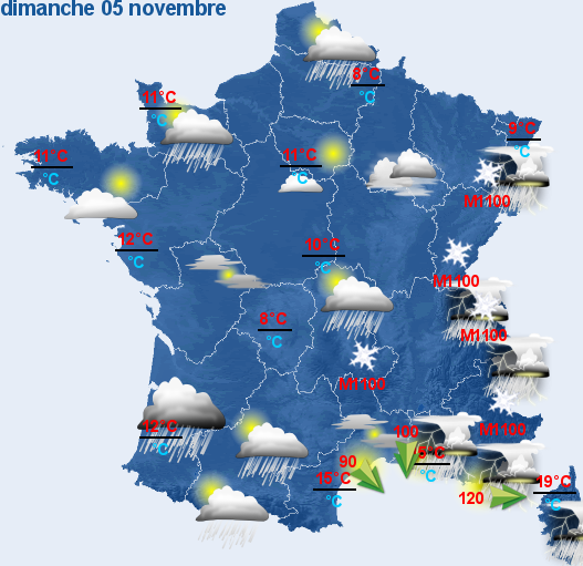 previsions nationales france a 48h