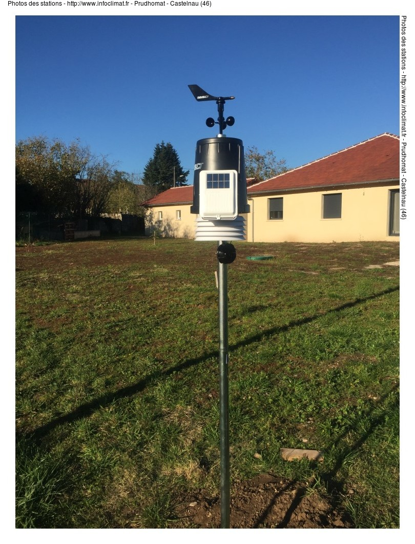 Prudhomat - Castelnau (Lot - France) | Relevés météo en